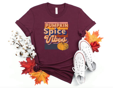PREORDER - Retro Pumpkin Spice Vibes Fall Boutique Soft Tee