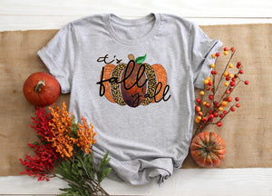 PREORDER - It's Fall Y'all Leopard Pumpkin Boutique Soft Tee