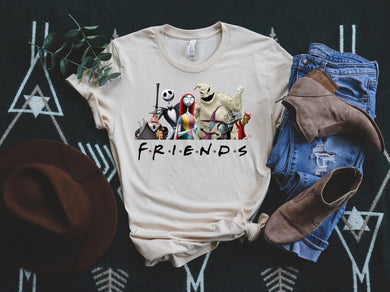 PREORDER - Animated Halloween Friends SS Boutique Soft Tee