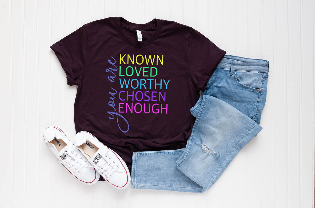 PREORDER - You Are Worthy Inspirational SS Boutique Soft Tee