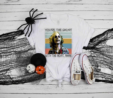 PREORDER-Ghost With The Most, Babe Halloween Boutique Soft Tee