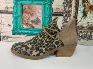 The Spartan Tan Leopard Bootie