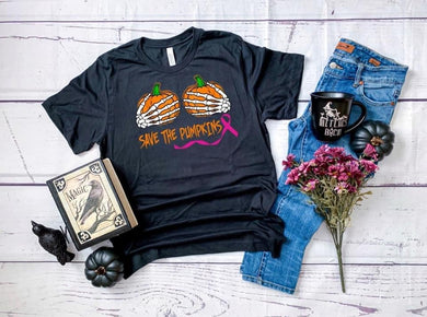 PREORDER - Save The Pumpkins-Breast Cancer Awareness Boutique Soft Tee