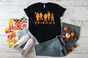 PREORDER - Scary Halloween Friends Silhouette SS Boutique Soft Tee
