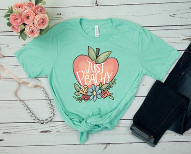 PREORDER- Just Peachy Short Sleeve Boutique Soft Tee