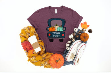 PREORDER - Pumpkin Pickin Fall Boutique SS Soft Tee