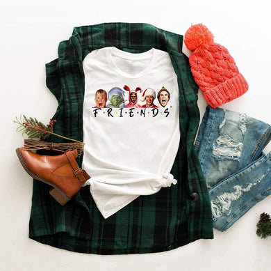 PREORDER- Christmas Friends LONG SLEEVE Boutique Soft Tee