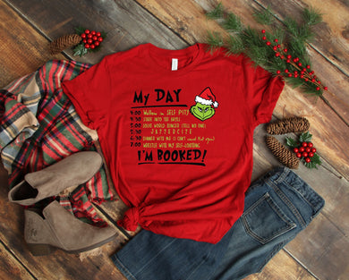 PREORDER - Grinch My Day I'm Booked Boutique Soft Tee