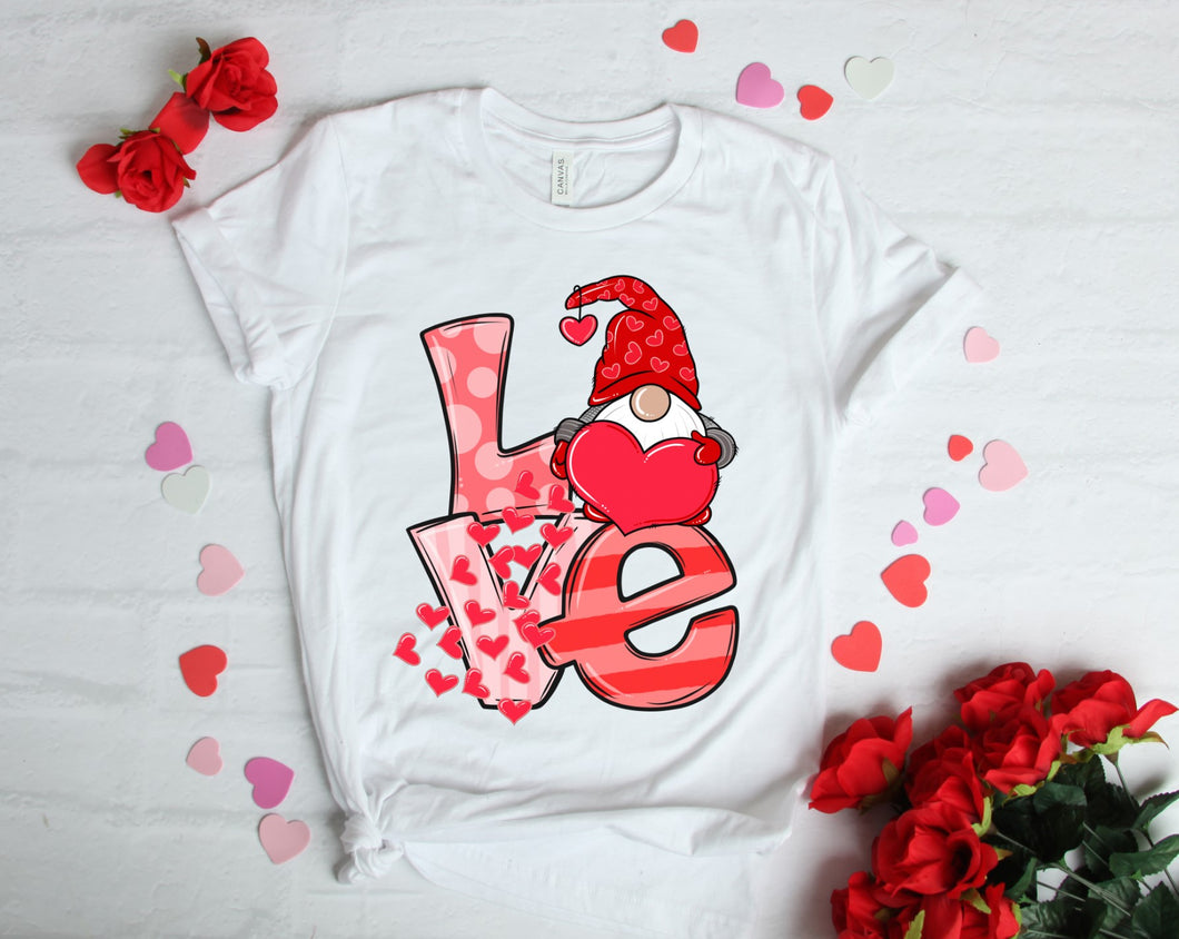 PREORDER - LOVE Gnome Hearts Valentine's Boutique Soft Tee