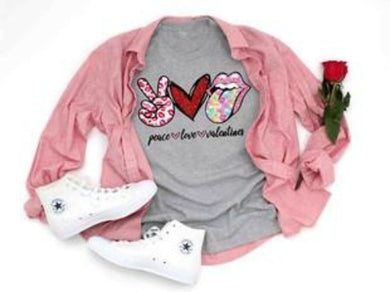 PREORDER - Peace Love Valentines Boutique Soft Tee