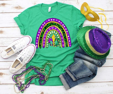 PREORDER - Mardi Gras Colors Rainbow Boutique Soft Tee