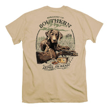 Load image into Gallery viewer, Straight Up Southern Brand - Armed and Ready - Hunting Dog Tee Shirt