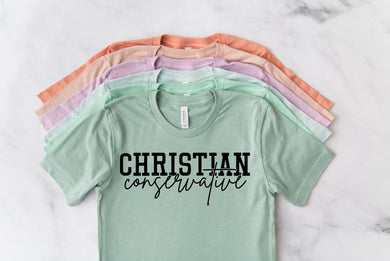 PREORDER - Christian Conservative Dusty Blue Boutique Soft Tee