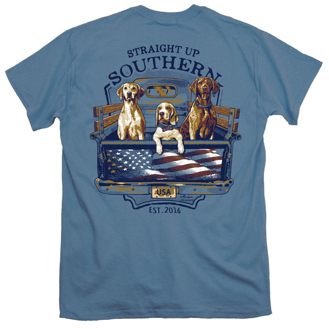 Straight Up Southern Brand - USA Truck Dogs - Country Southern Tee Shirt