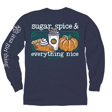 Sugar, Spice & Everything Nice Glitter Ink Long Sleeve Tee - Itsa Girl Thing