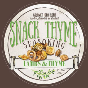 Lambs & Thyme All Natural Gourmet Herb Snack/Cracker Seasoning - Snack Thyme