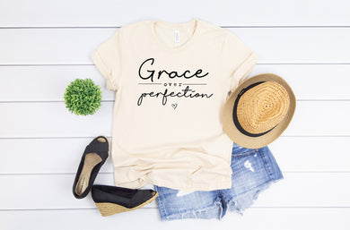 PREORDER - Grace Over Perfection Inspirational Soft Boutique Tee