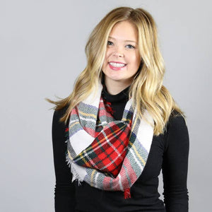 Holiday Plaid Cozy Infinity Tartan Scarf