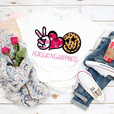 PREORDER - Peace Love Happiness Boutique Soft Tee