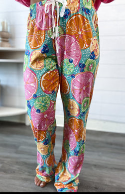 PREORDER Southern Couture Lounge Pants - Citrus (Also available in store)