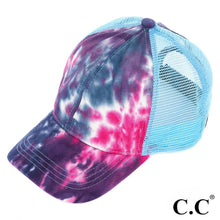 Load image into Gallery viewer, In Stock! - NEW CC Tie Dye Ponytail Trucker Cap - A Hot Seller!!