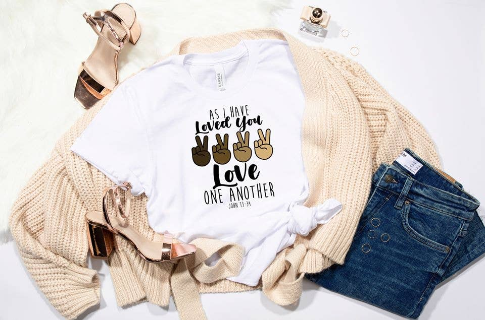 PREORDER - As I Have Loved You Love One Another Boutique Soft Tee