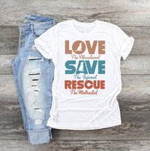 Load image into Gallery viewer, Love Save Rescue Dog SS Tee - Custom Printed Preorder Tees