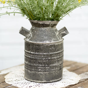 "Farmhouse 7.5"" Rustic Farm Jug - Flower Vase or Utensil Holder"