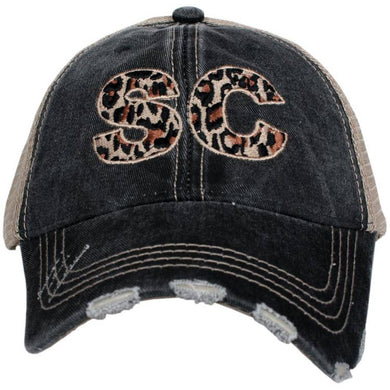 Preorder - New Leopard SC Embroidered Distressed Trucker Hat