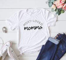 Load image into Gallery viewer, Most Loved Momma Boutique Tee - Custom Printed Preorder Tees