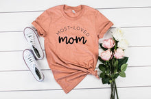 Load image into Gallery viewer, Most Loved Mom Boutique Tee - Custom Printed Preorder Tees