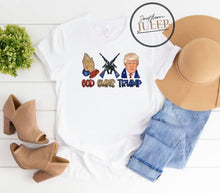 Load image into Gallery viewer, God Guns Trump SS Boutique Tee - Custom Printed Preorder Tees