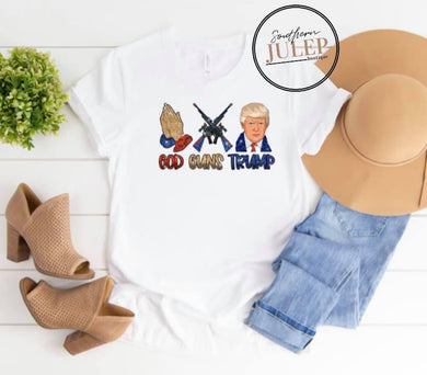 God Guns Trump SS Boutique Tee - Custom Printed Preorder Tees