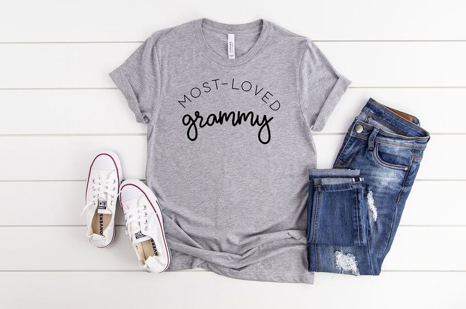 Most Loved Grammy Boutique Tee - Custom Printed Preorder Tees