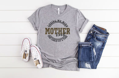 Losing My Mind Motherhood Charcoal SS Boutique Tee - Custom Printed Preorder Tees