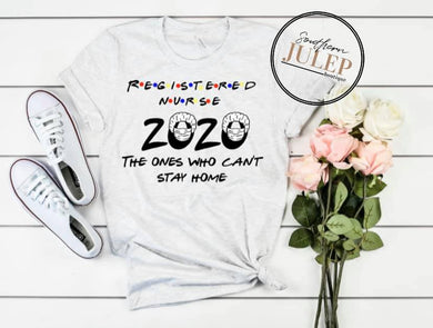 Registered Nurse 2020 Heathered SS Boutique Tee - Custom Printed Preorder Tees
