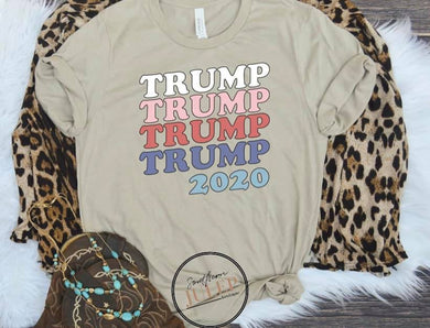 Retro Trump 2020 Boutique Short Sleeve Tee - Custom Printed Preorder Tees