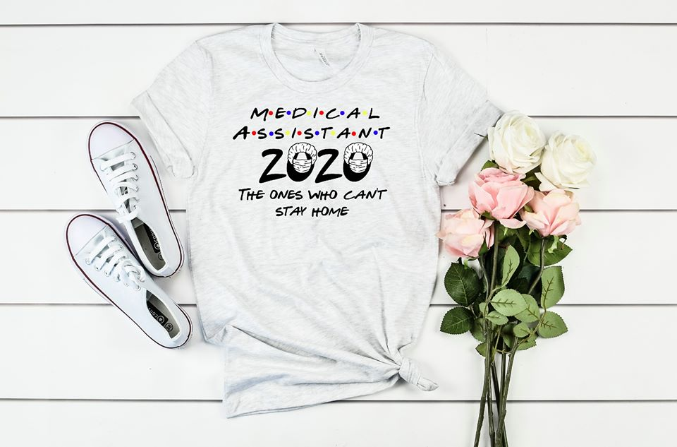 Medical Assistant 2020 Heathered SS Boutique Tee - Custom Printed Preorder Tees
