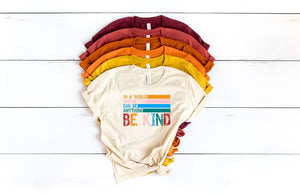 BE KIND Retro SS Boutique Tee - Custom Printed Preorder Tees