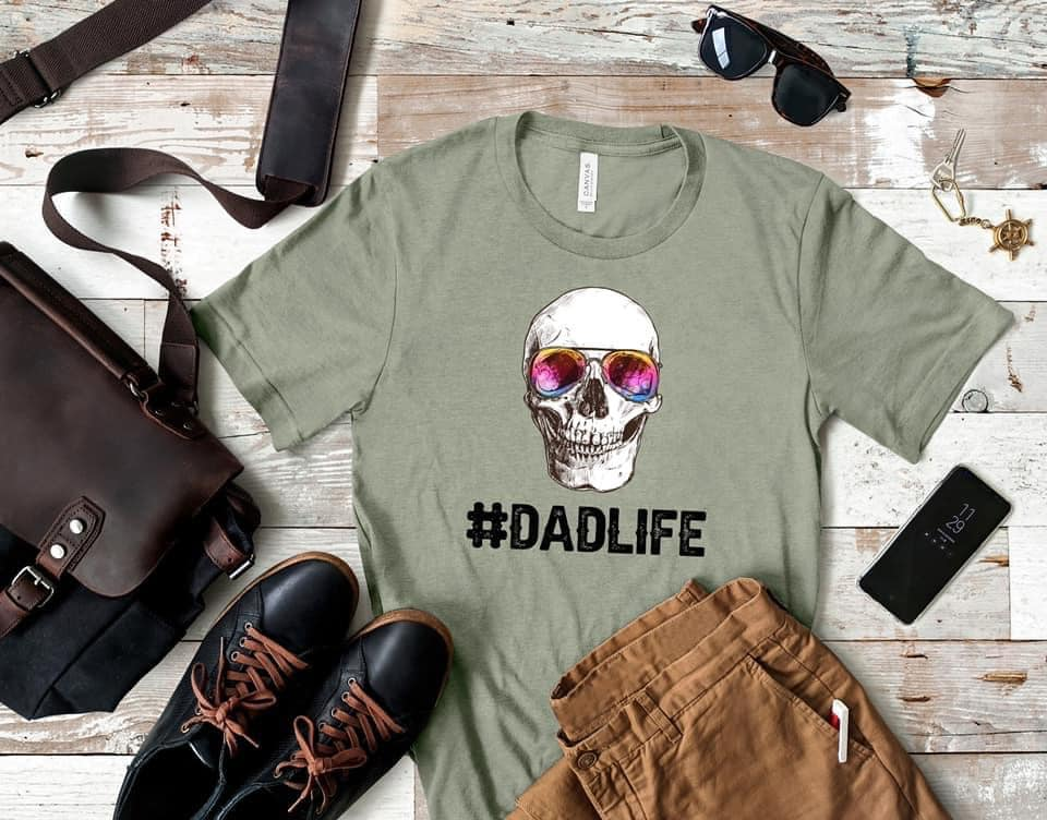 #Dadlife SS Boutique Tee - Custom Printed Preorder Tees