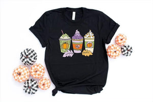 PREORDER - Halloween/Fall Pumpkin Spice Latte Trio Boutique Soft Tee
