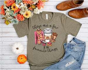 PREORDER-These Are A Few of My Favorite Things Fall Boutique Soft Tee