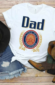 Dad A Fine Man & Patriot White SS Boutique Tee - Custom Printed Preorder Tees