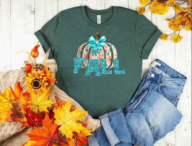PREORDER - Fall Floral Pumpkin Boutique Soft Tee