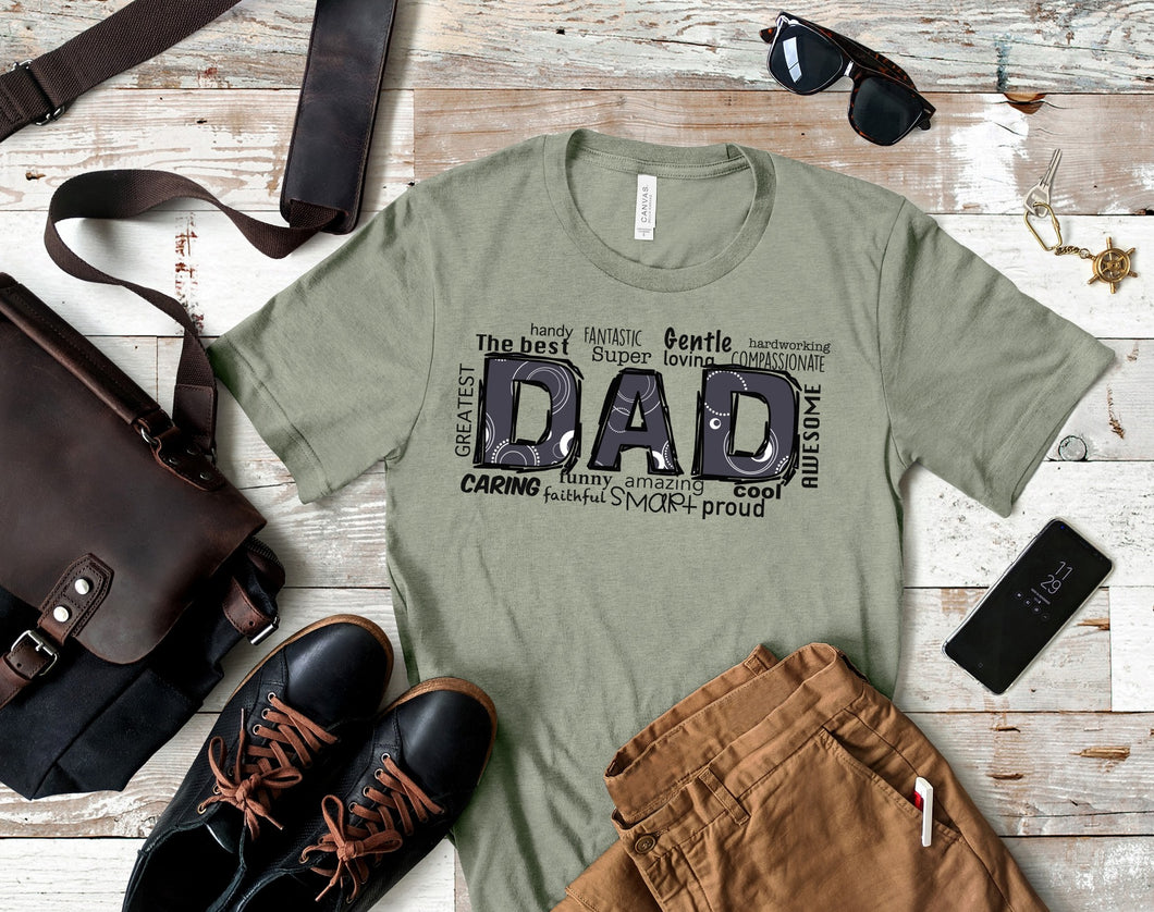 The Best Dad SS Boutique Tee - Custom Printed Preorder Tees