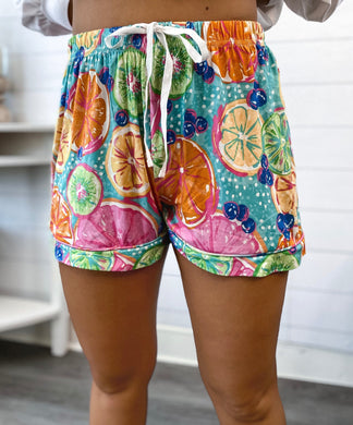 PREORDER Southern Couture Lounge Shorts - Citrus (Also available in store)