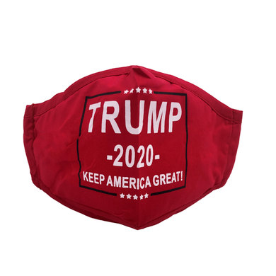PREORDER-Adults Trump 2020 Reusable 2 Ply Face Mask with Filters - Girlie Girl Brand