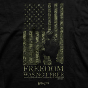 Kerusso® Freedom Was Not Free Adult Christian T-Shirt-Military