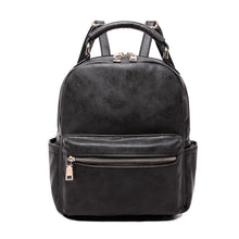 Load image into Gallery viewer, The FINN Side Pocket Backpack - Black - Monogrammable