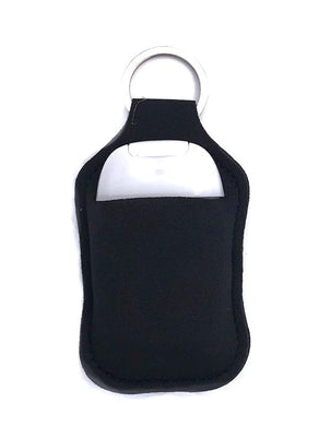 PREORDER - Black Key Chain Hand Sanitizer Neoprene Holder